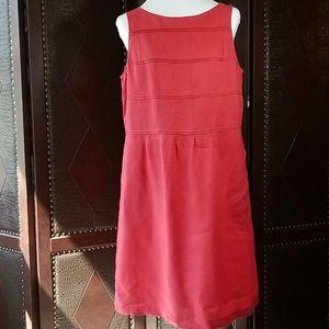 J. Jill Love Linen Red Sleeveless Dress size M